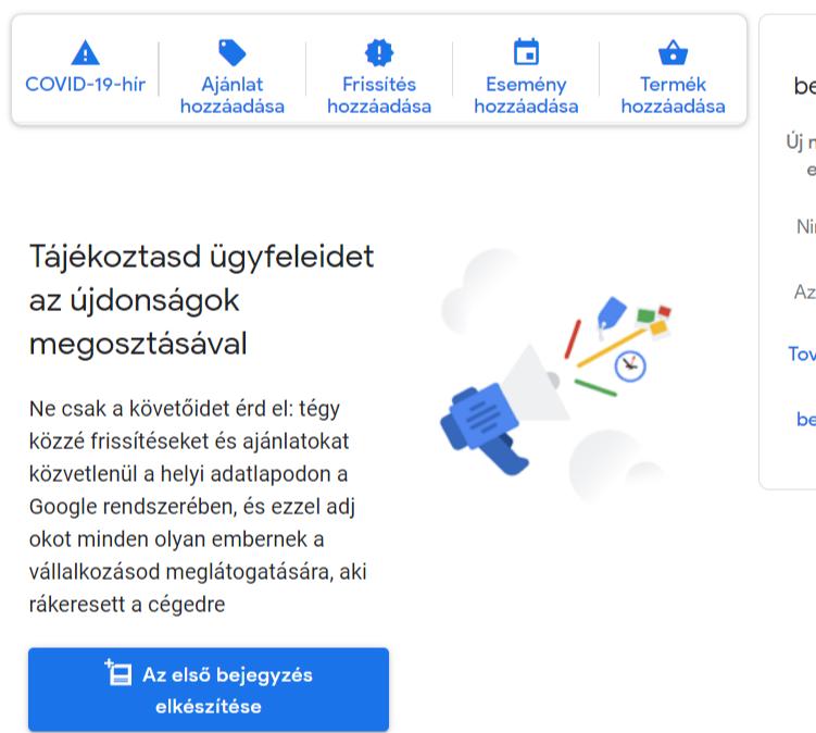 google cégem kezelés